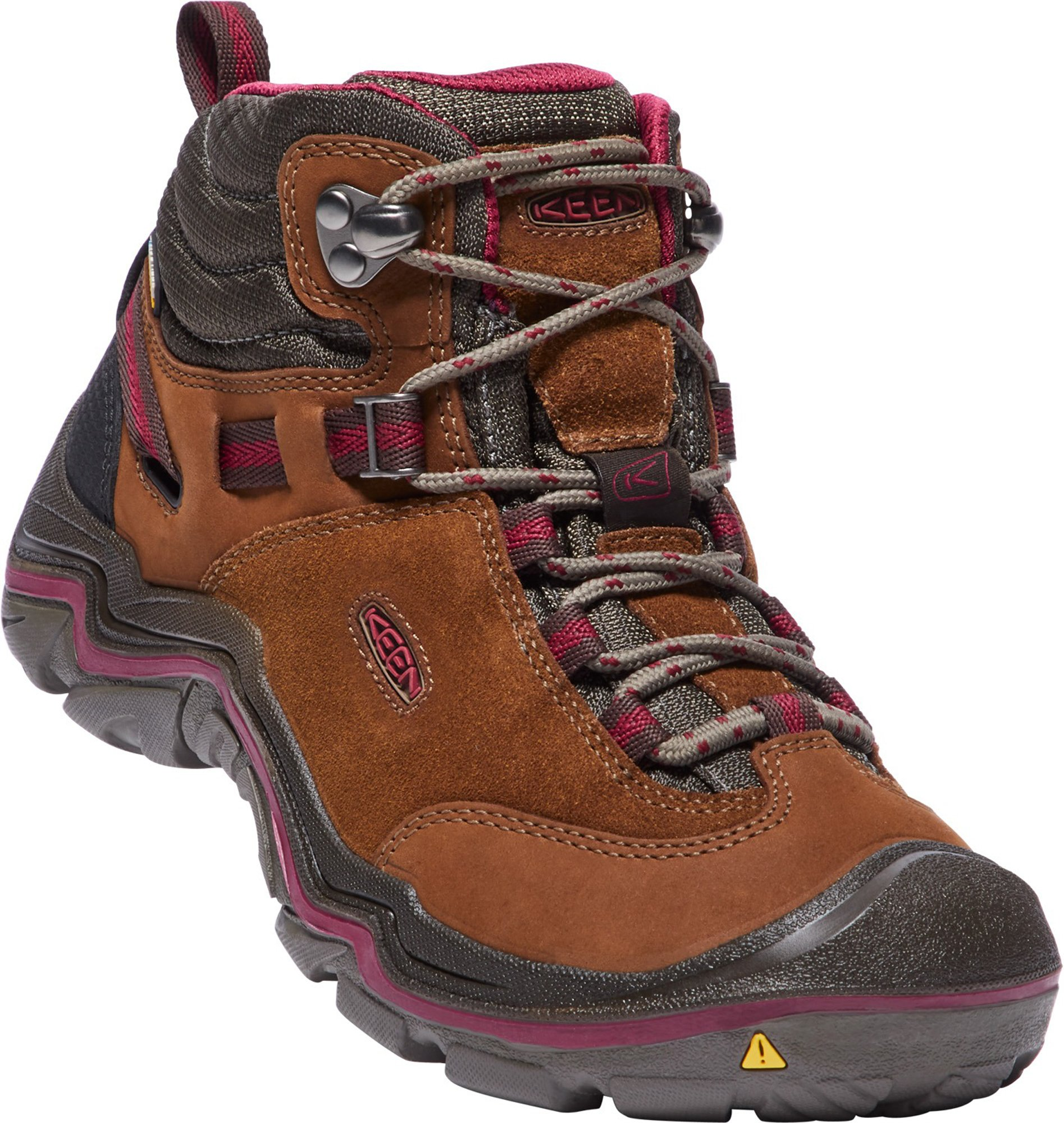 KEEN Women's Laurel Mid WP-w Trail Runner, Monks Robe/Rhododendron, 9 M US by KEEN (Image #6)