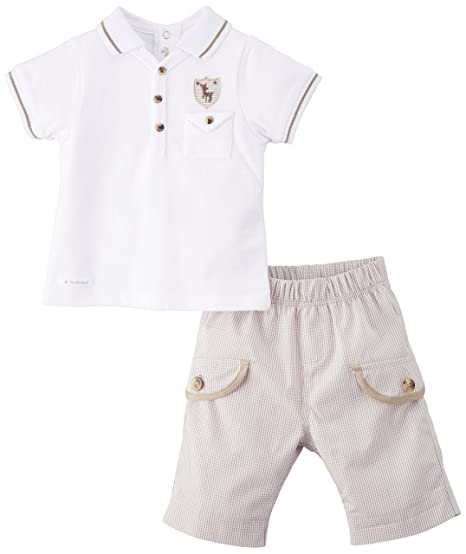 Berlingot Baby Boys Checkered Together Beige 6 9 Months