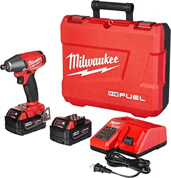 Bare Tool Milwaukee 2755-20 M18TM FUEL 1//2 Compact Impact Wrench w//Pin Detent; Torque = 220 ft-lbs ; 4 Mode