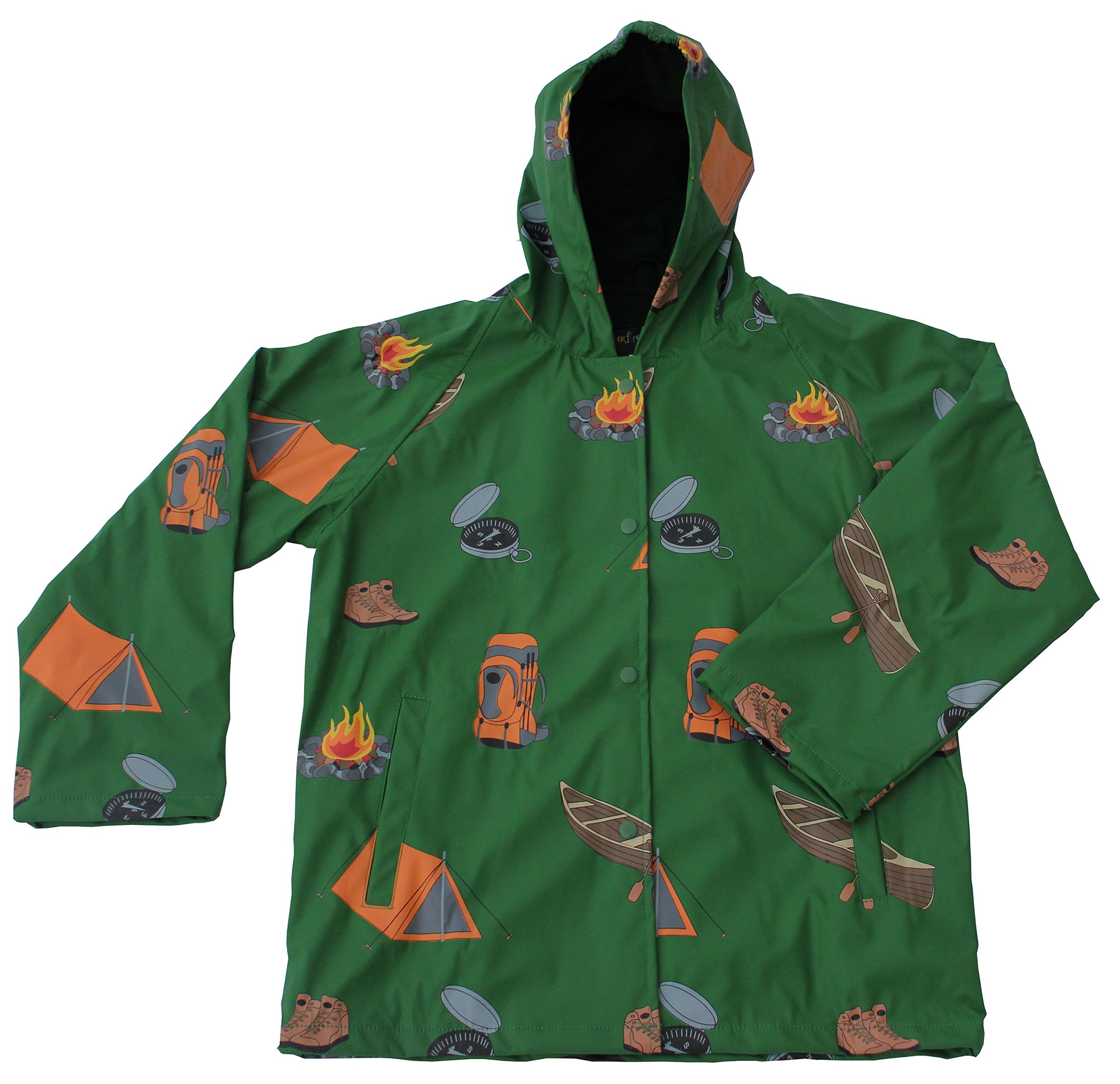 Foxfire for Kids Boys Green Camping Adventure Raincoat Size 1T