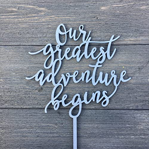 Amazon Com Our Greatest Adventure Begins Cake Topper Inches