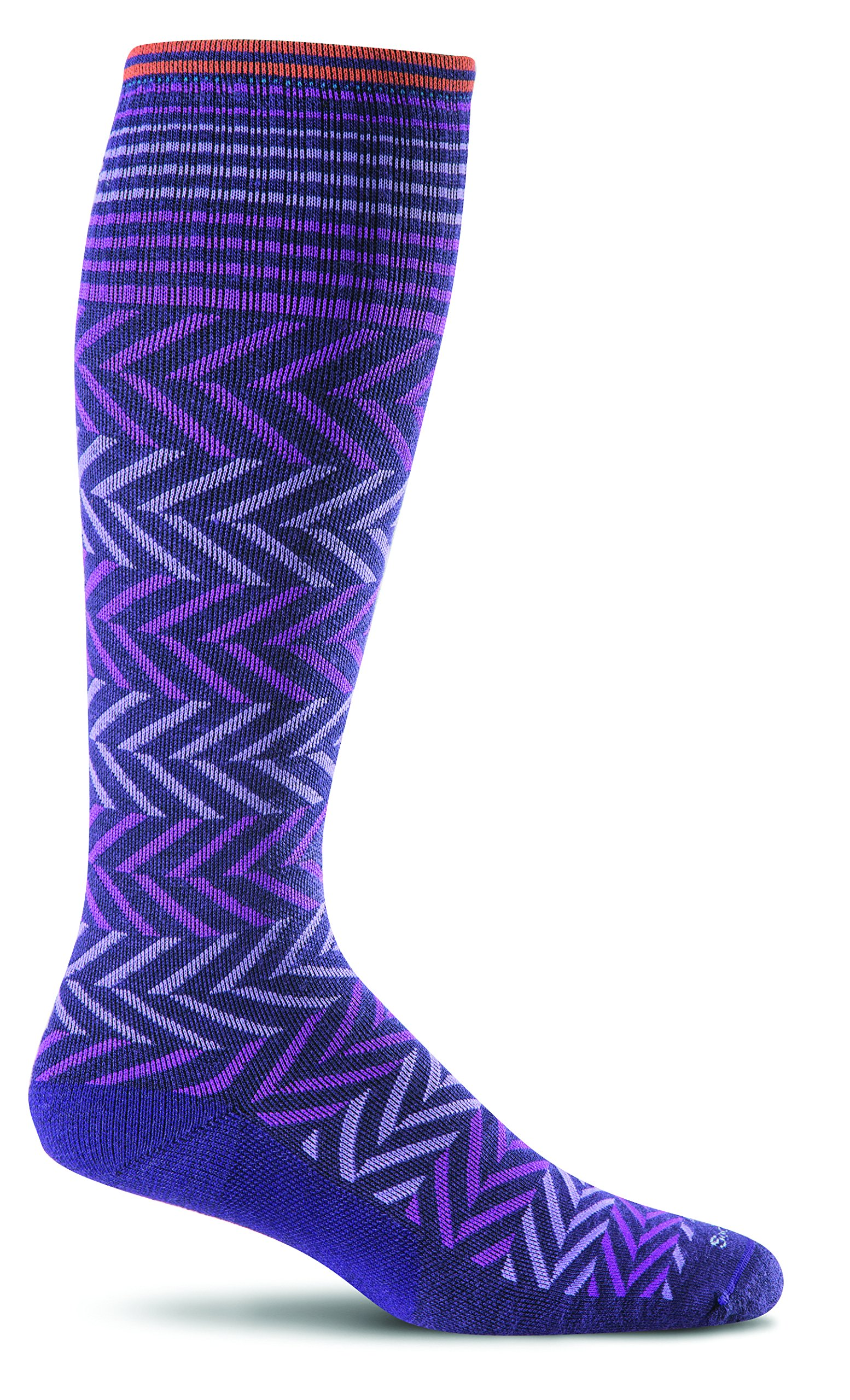 Sockwell Women's Chevron Graduated Compression Socks, Concorde, Medium/Large