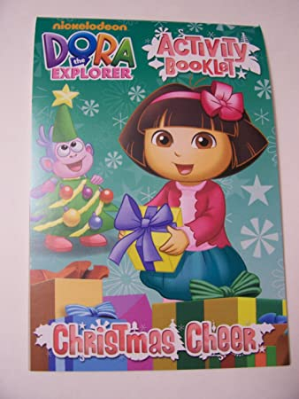 Dora The Explorer Coloring And Activity Booklet Christmas Edition Cheer Boots In