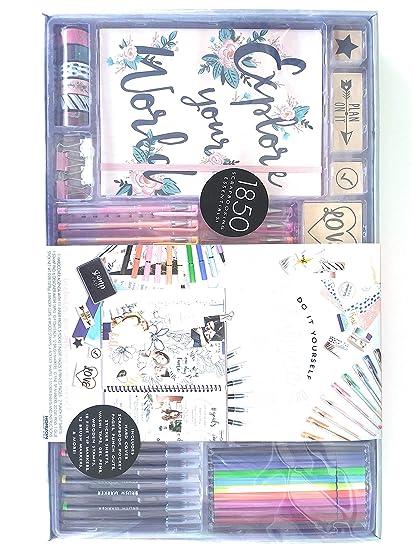 DIY Deluxe Memory Keeper Creative Journaling Set w/Accessories