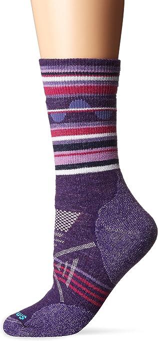 Small Smartwool PhD Medium Weight Womens Hike Merino Wool Crew Socks Purple