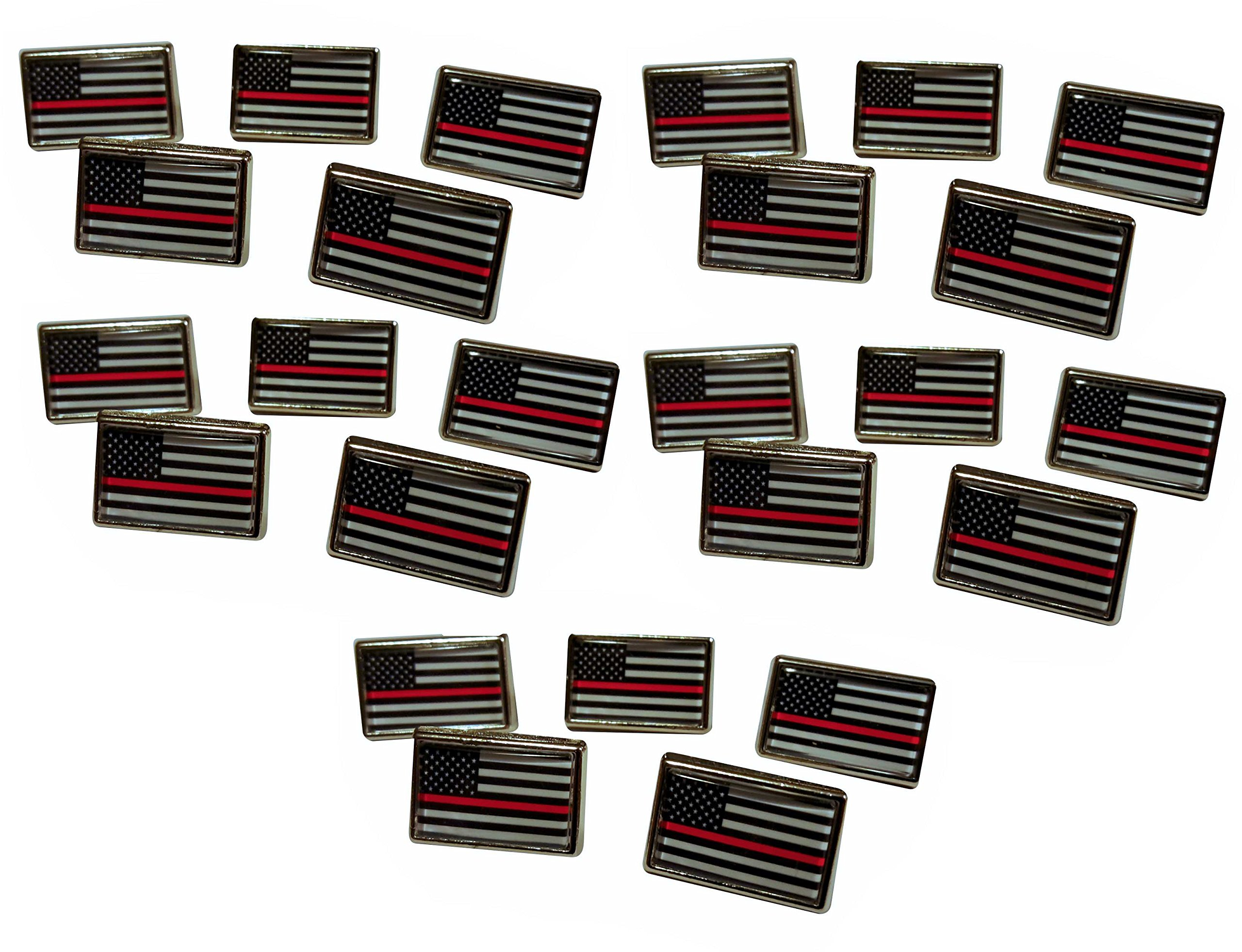 Thin Red Line Lapel Pin (25 Pack)