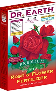product image for Dr. Earth 702 Organic 3 Rose & Flower Fertilizer, Boxed, 4-Pound