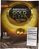 Nescafé GOLD BLEND Instant Coffee (15 Single Serve Sticks) ★ Made with Premium Grade Fine Coffee Beans ★ A Distinctive Blend of Arabica and Robusta Beans ★ With a Lighter Roast than Nescafé Original ★ Has a Velvety Texture, Smooth Taste and Rich Aroma Worth Savoring ★ Imported from Nestlé Malaysia