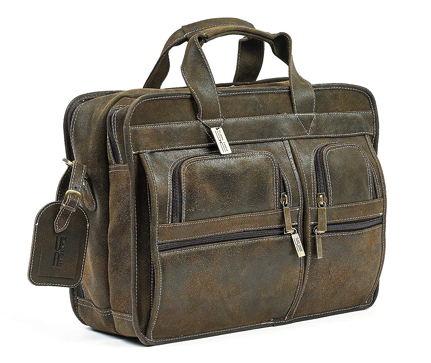 Claire Chase Executive Computer Brief B00H2XY4HS ブラウン(Distressed Brown) One Size