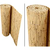 """Schilfrohrmatten Premium für Balkon, """"Beach"""", 90 hoch x 600cm breit, ein Produkt von bambus-discount - Sichtschutz Matten Windschutzmatten"""
