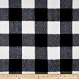 Fleece Buffalo Plaid Print Black/White Fabric By The Yard
