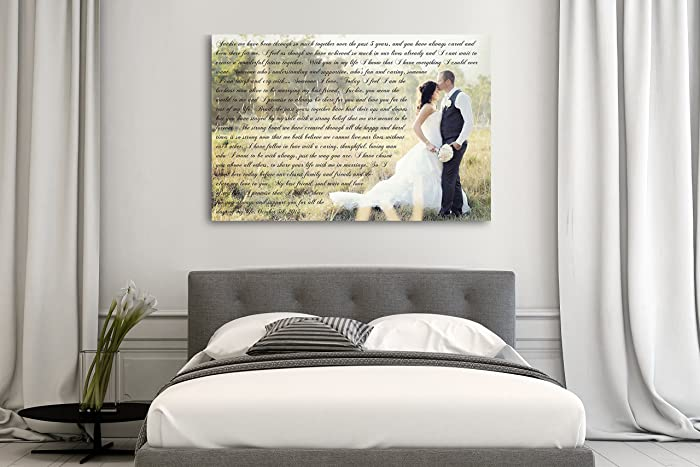 amazon com wedding vows custom canvas a personalized canvas