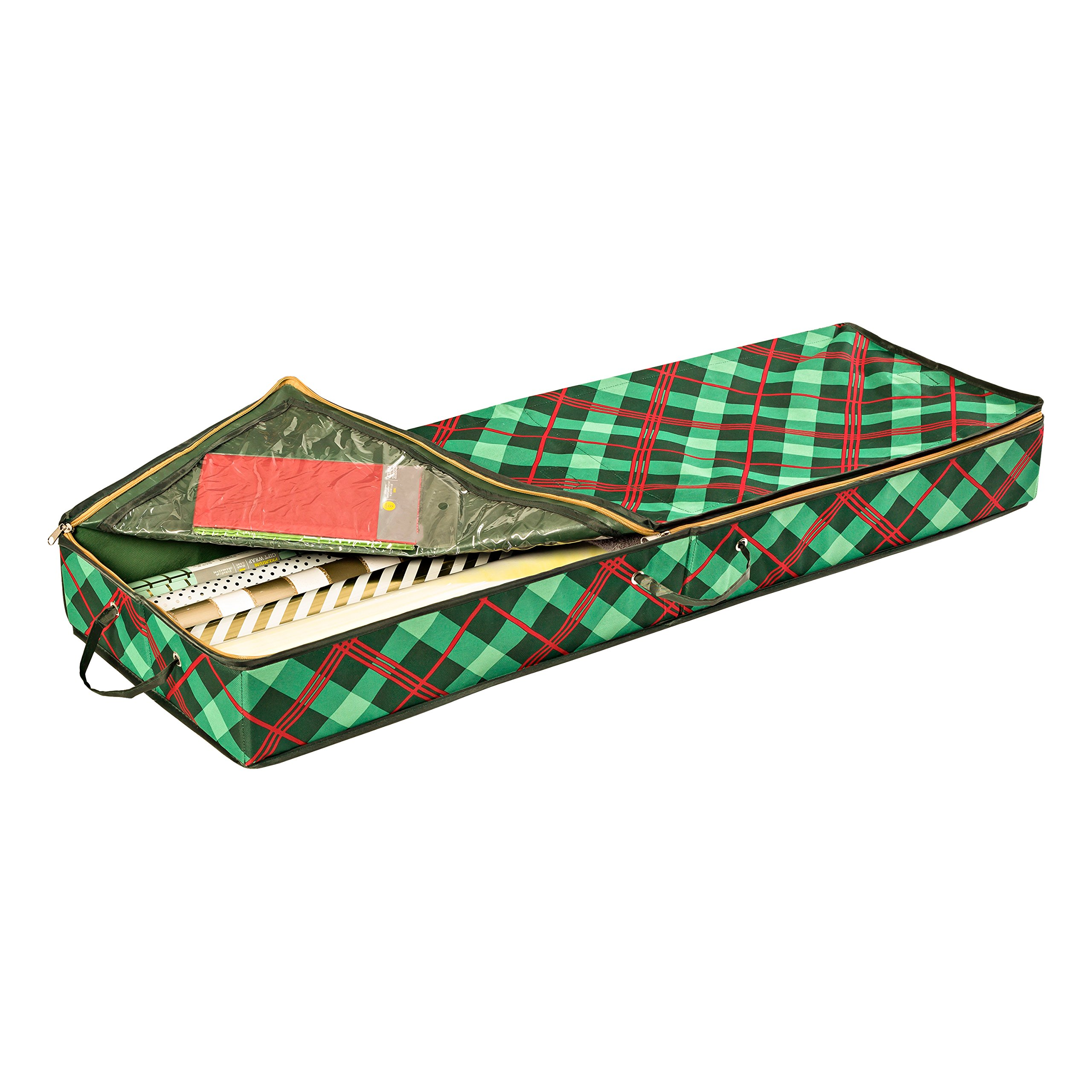 Honey-Can-Do SFT-07749 Plaid Gift Wrap Organizer