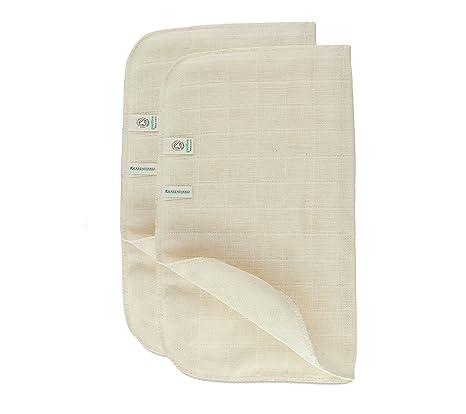 Verde fibras Juego de 2 orgánico muselina de algodón toalla para la cara
