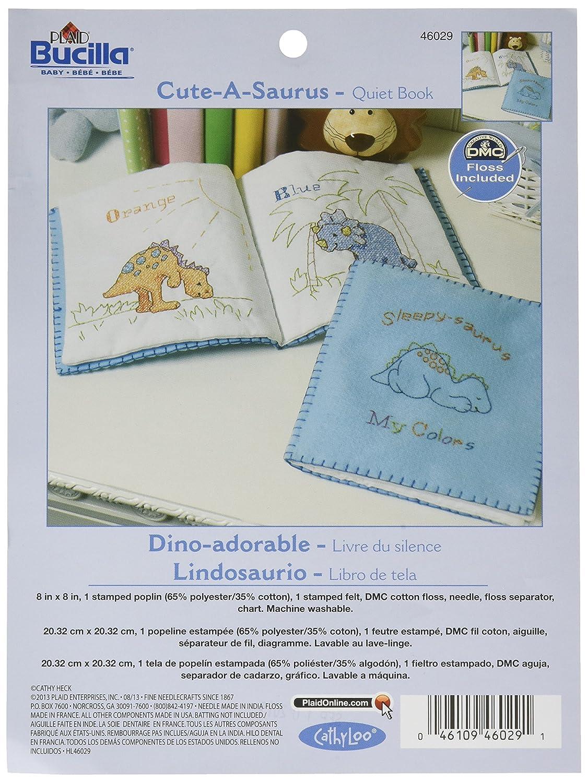 Amazon Bucilla Stamped Cross Stitch Quiet Book Kit 9 By 9 Inch