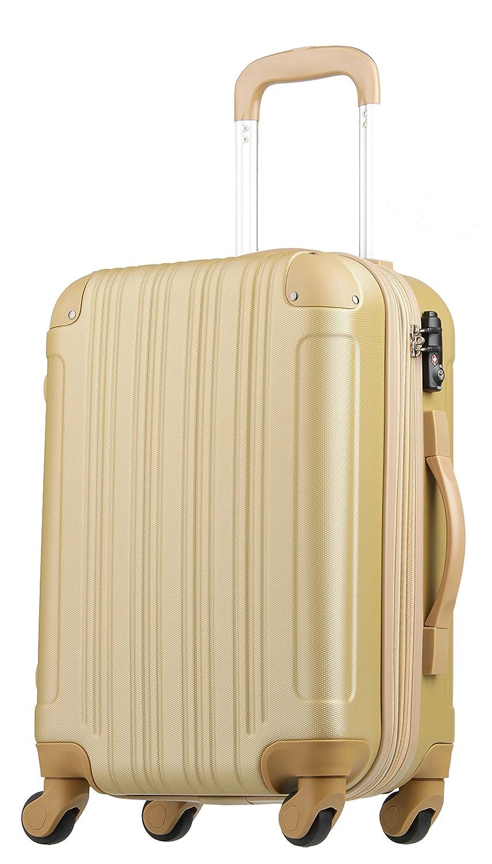 【レジェンドウォーカー】LEGEND WALKER スーツケース 容量拡張 TSAロック 超軽量 マット加工 ファスナー開閉 5082 B01GTEB8KG 機内持込サイズ(1~3泊/33(拡張時40)L)|シャンパンゴールド シャンパンゴールド 機内持込サイズ(1~3泊/33(拡張時40)L)