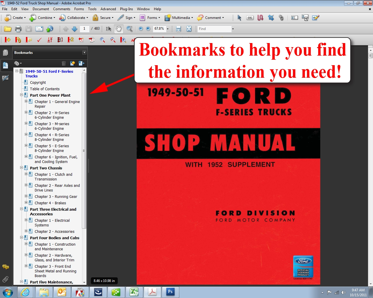 1949-52 Ford Truck Shop Manual: Ford Motor Company, David E. LeBlanc:  9781603710626: Amazon.com: Books
