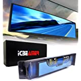 ICBEAMER 9.4' 240mm Easy Clip on Wide Angle Panoramic Blind Spot Fit Auto Interior Rear View Mirror Convex Blue Surface