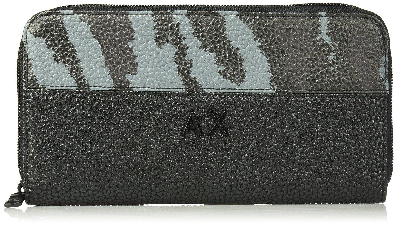 Armani Exchange Men's Camouflage Round Zip Wallet Black TU 9580578P209