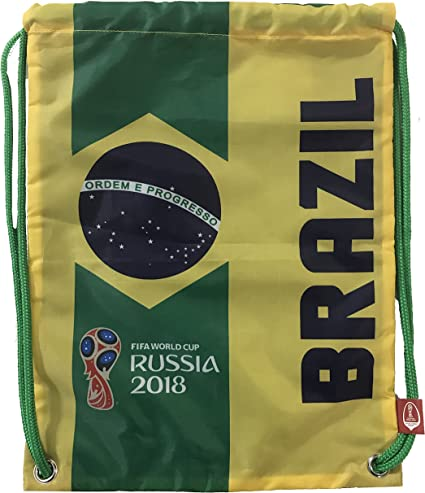 Mexico//Brazil//Argentina//Spain Icon Sports 2018 FIFA World Cup Official Drawstring Cinch Bag