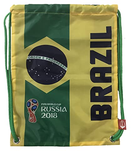 318aac3d0720 Icon Sports FIFA 2018 World Cup Russia Drawstring Cinch Bag - Mexico Brazil  (Brazil