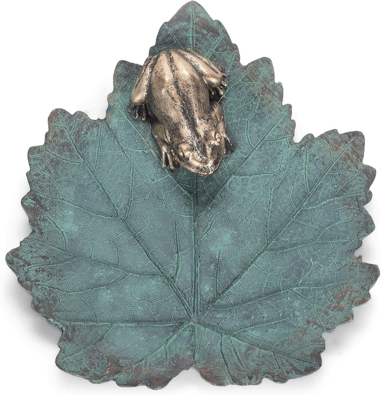 Roman 12187 Frog Leaf Bird Bath, 2.25-inch Height
