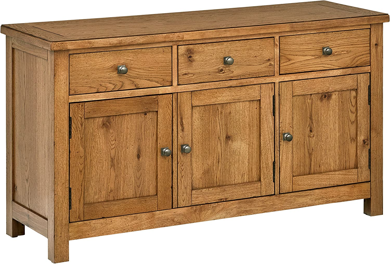 "Stone & Beam Parson Rustic Buffet Sideboard Storage Cabinet 56""W, Oak Wood"