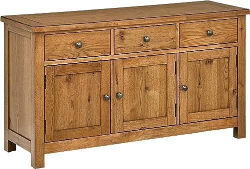 Stone Beam Parson Rustic Buffet Sideboard Storage Cabinet 56 W