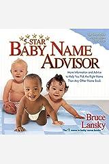 5-Star Baby Name Advisor Kindle Edition