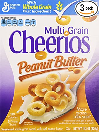 amazon com multi grain cheerios cereal box peanut butter 11 3