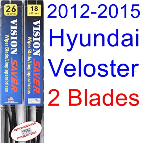 Amazon.com: 2012-2015 Hyundai Veloster Replacement Wiper Blade Set/Kit (Set of 2 Blades) (Saver Automotive Products-Vision Saver) (2013,2014): Automotive