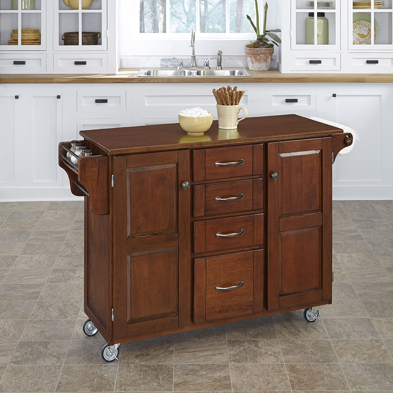 Amazon Home Styles Create a Cart Cherry Finish with Cherry