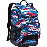Speedo Large Teamster Backpack 35-Liter, Digi Camo Red/White/Blue, One Size