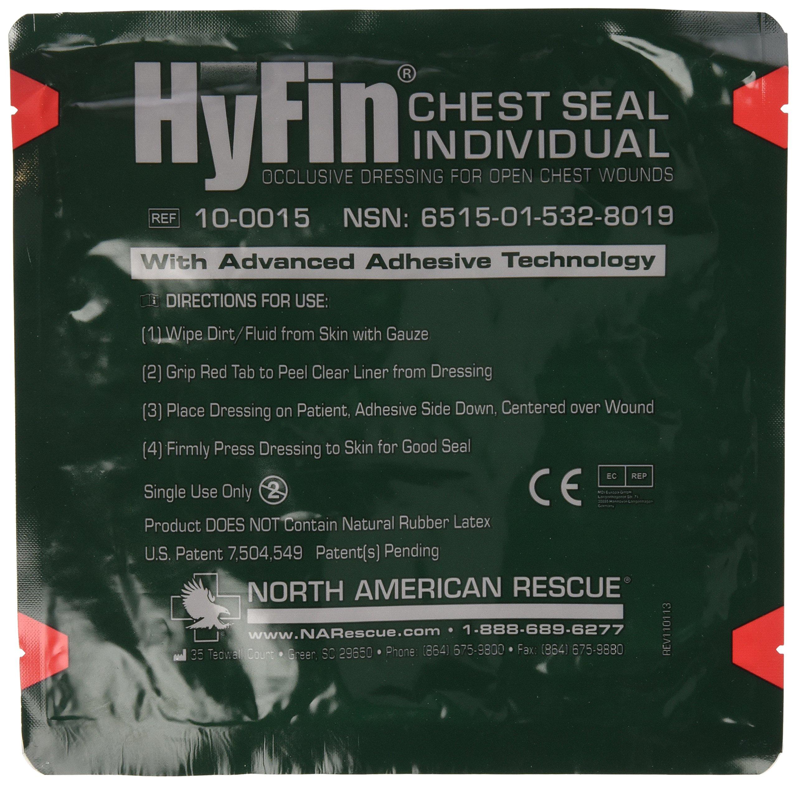 North American Rescue Hyfin Chest Seal Gauze REF 10-0015