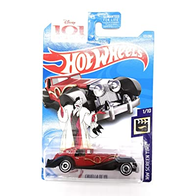 Hot Wheels 2020 HW Screen Time Disney's 101 Dalmations Cruella De Vil 127/250, Red: Toys & Games