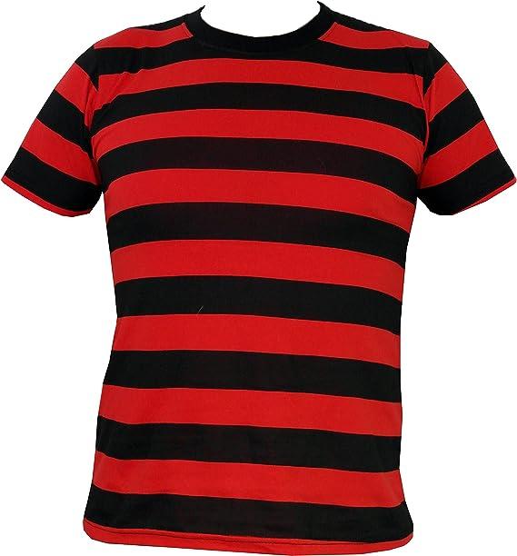 Rock Star Academy negro y rojo rayas camiseta: Amazon.es: Ropa y accesorios