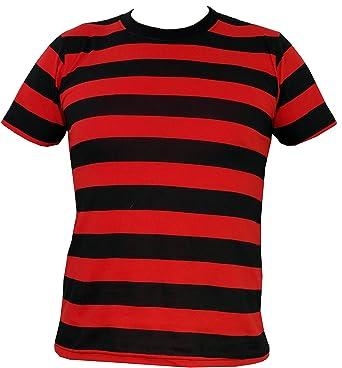 Schwarz-Rot Gestreift T-Shirt (GrӇe S)