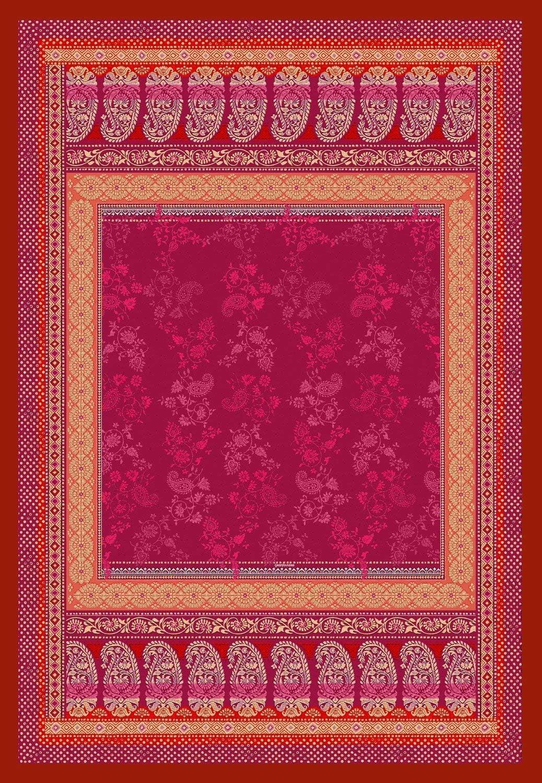 Bassetti Monte Rosa V1 - Manta de algodón (135 x 190 cm), Color Rojo