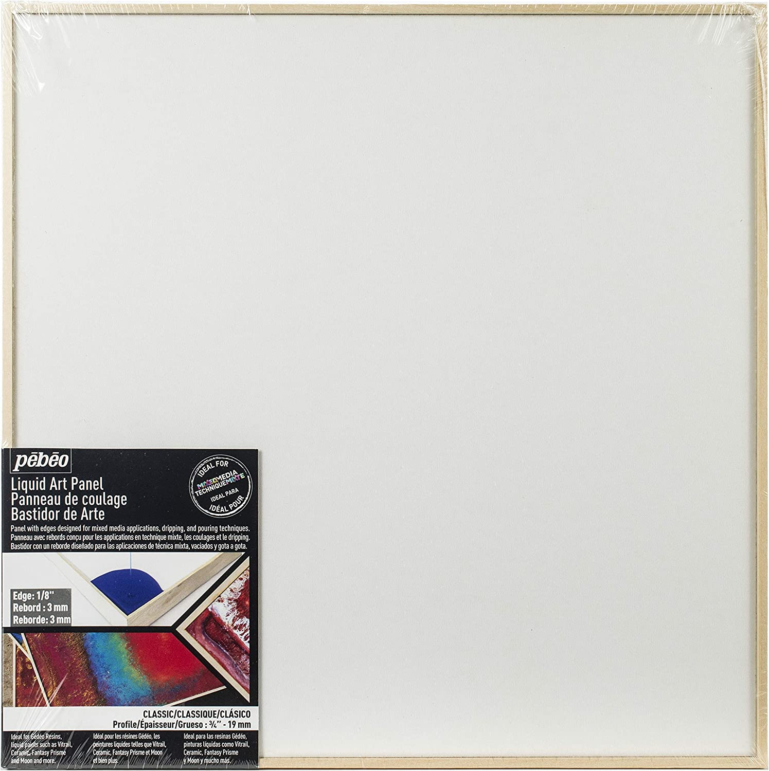 Pebeo Quick Border add lip to canvas boards to pour resin or colour Iron on tape