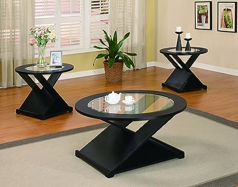 Coaster Home Furnishings 701501 3 Piece Contemporary Living Room Set, Black Part 7