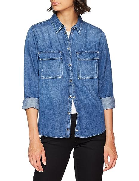 best service 13478 47a65 Pepe Jeans Nina, Camicia Donna, Blu (Denim Gf8)