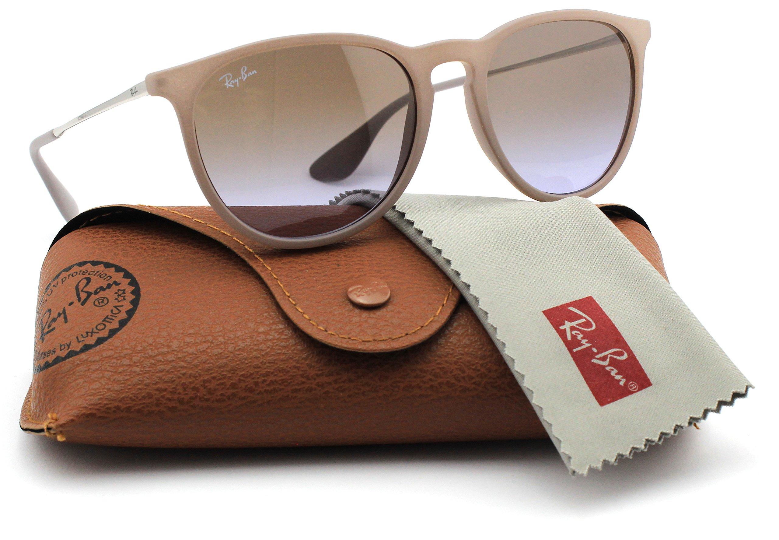 Ray-Ban RB4171 600068 Erica Sunglasses Dark Rubber Sand Frame / Brown Gradient Lens