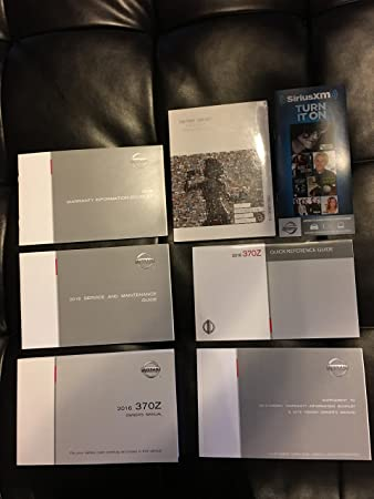 amazon com 2016 nissan 370z owners manual operators book set rh amazon com 370z owners manual pdf 350z owners manual 2008