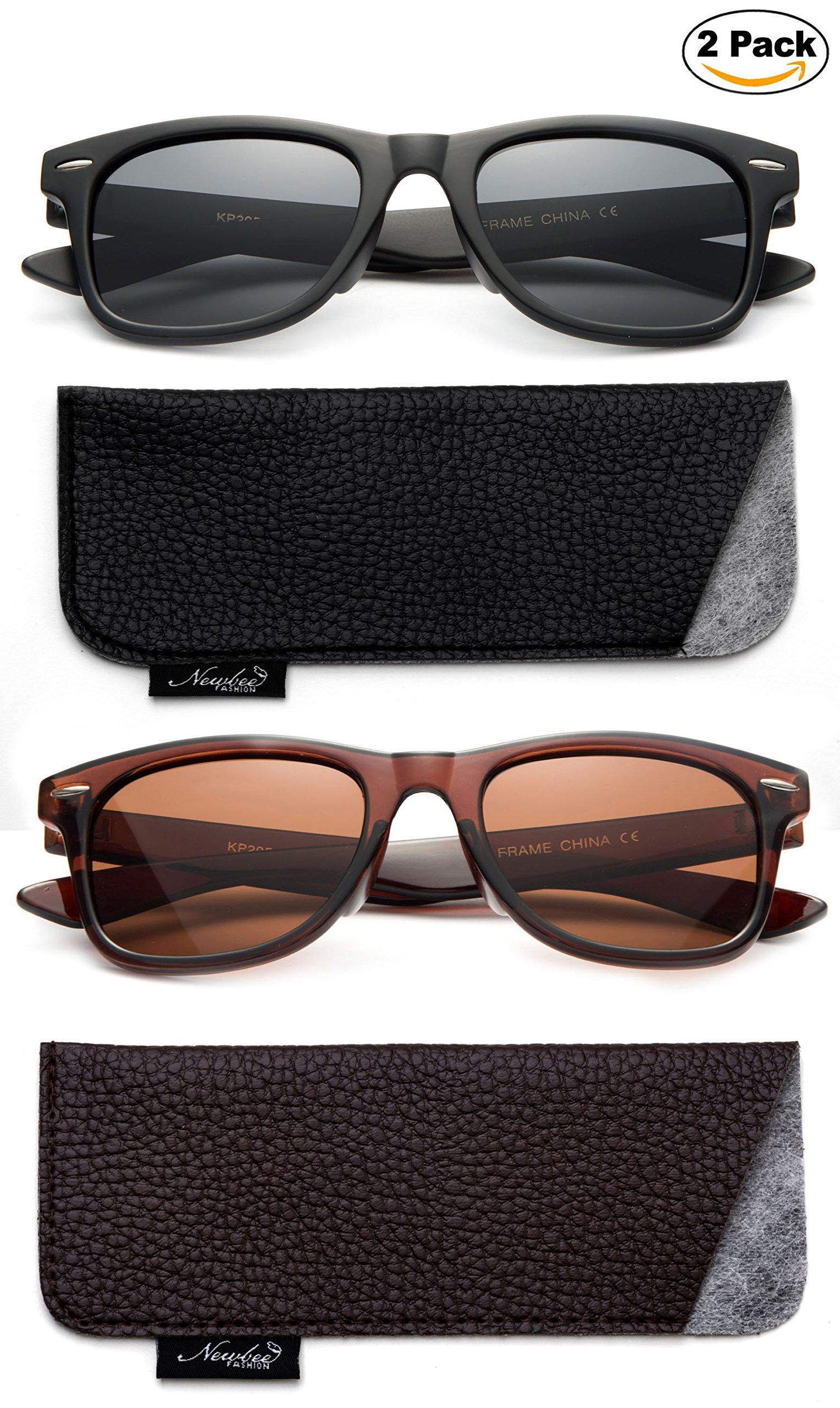 Kids Toddler Baby 80's Classic Vintage Retro Style Polarized Fashion Sunglasses (1-6 Years)