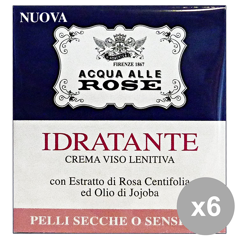 NEUTRO ROBERTS Set 6 Beruhigende Feuchtigkeitscreme Acqua Rose Trockene Haut 50 Ml. Gesichtspflege