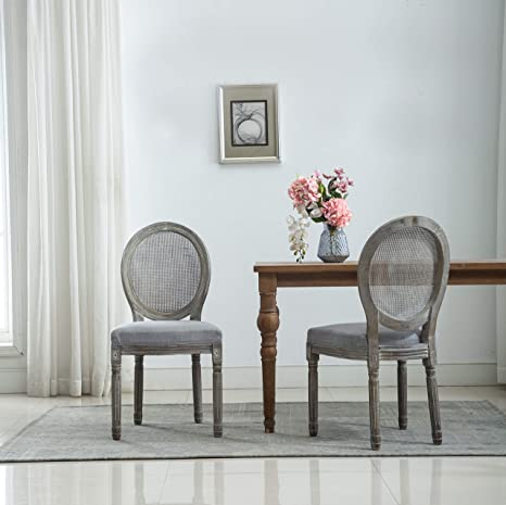 Astonishing Amazon Com French Retro Dining Chairs Distressed Wood Gmtry Best Dining Table And Chair Ideas Images Gmtryco