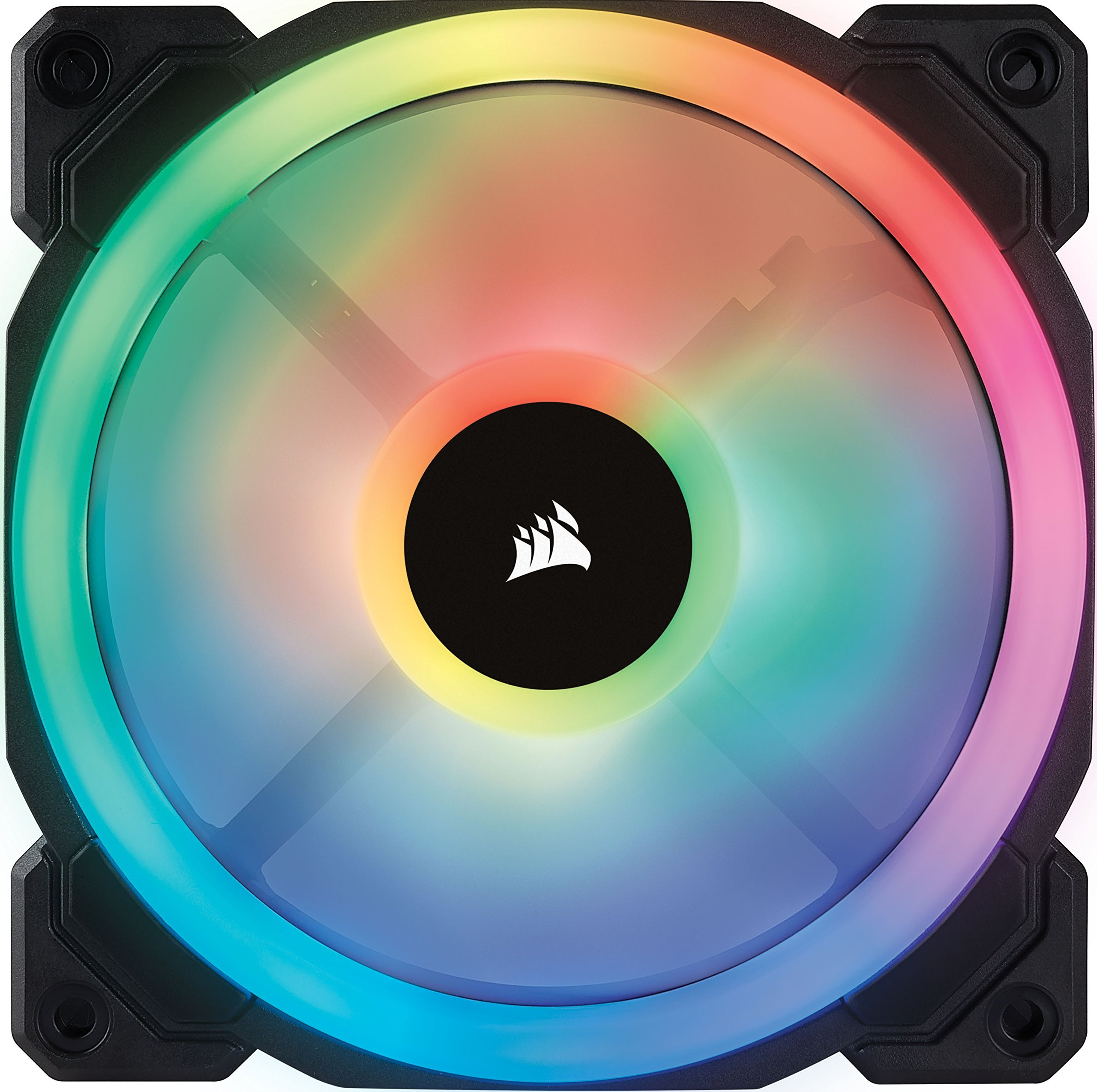 Corsair LL Series LL120 RGB 120mm Dual Light Loop RGB LED PWM Fan 3 Fan Pack with Lighting Node Pro (Renewed) by Corsair (Image #2)