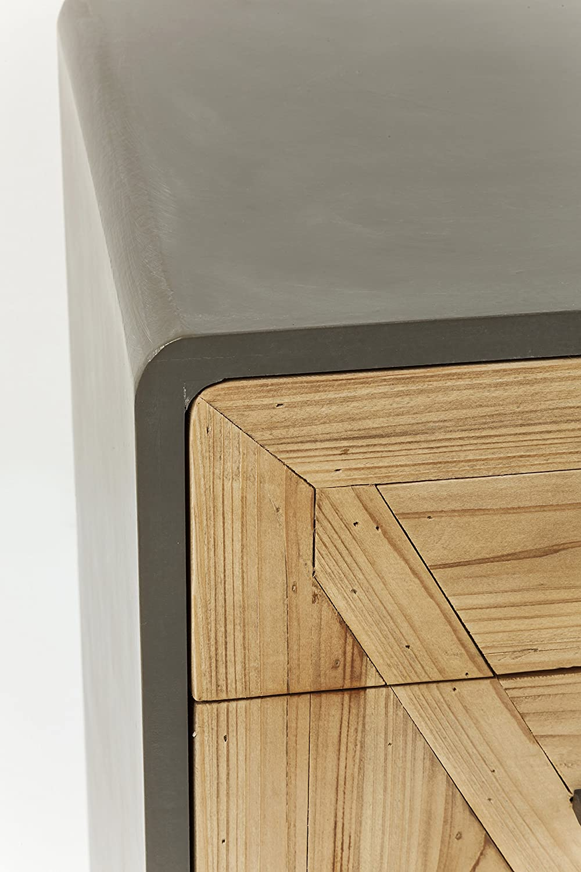Kare X Factory-C/ómoda de Madera de Abeto peque/ño y Estrecho 95 x 50 x 40 cm H//B//T Gris,