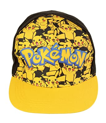separation shoes a3ccf eb919 Pokemon Official Licensed Pikachu All Over Front Design Baseball Cap Hat  Age 6-12 Years  Amazon.co.uk  Clothing
