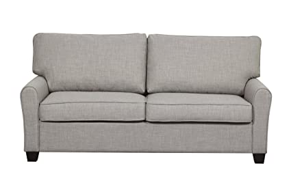 Pulaski Transitional Sofa, Ready To Assemble, Grey